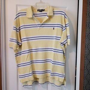 Polo Ralph Lauren Yellow Stripe Polo - XL